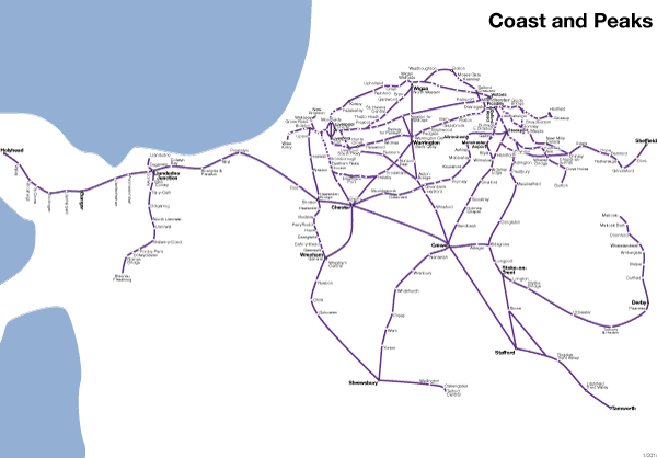 Coast and Peaks Rover rail pass