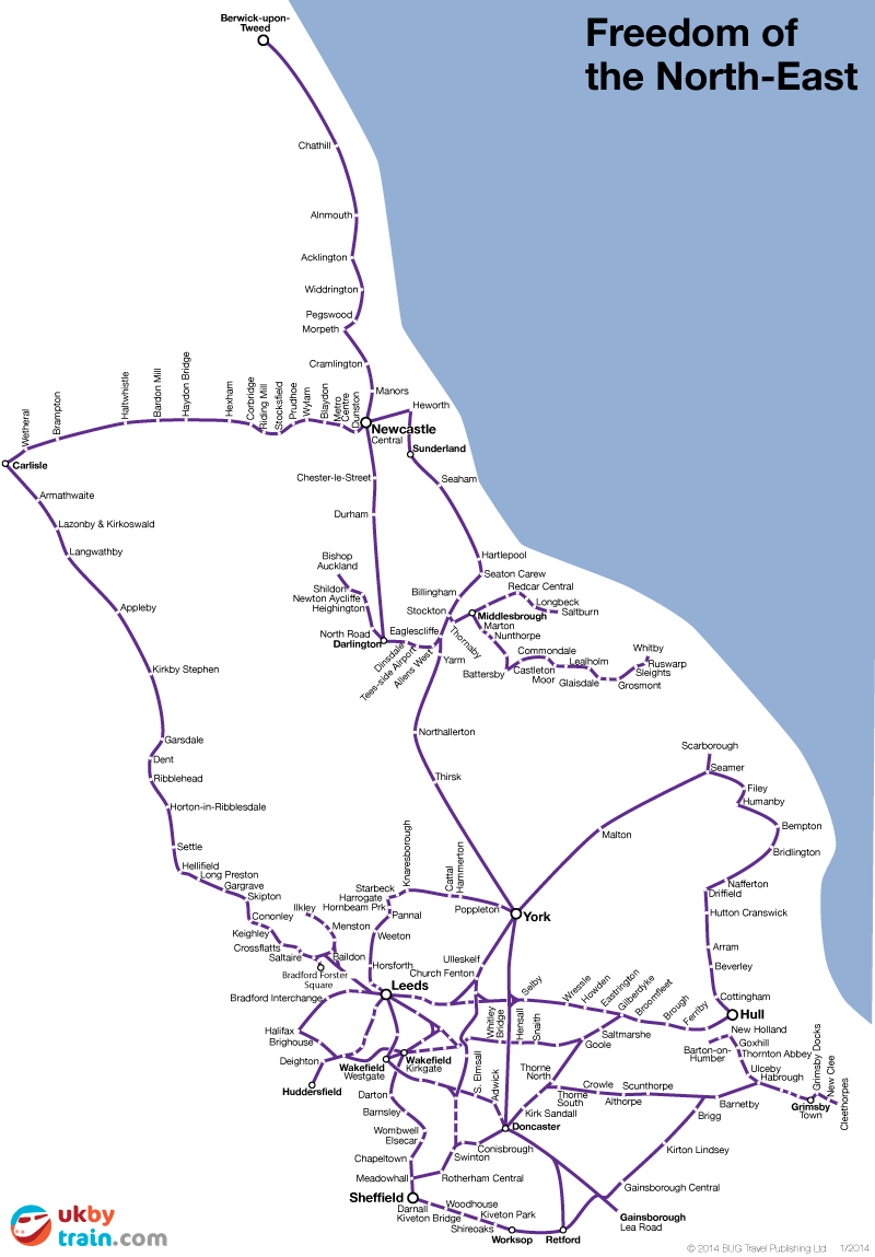 Freedom of the North East rail pass