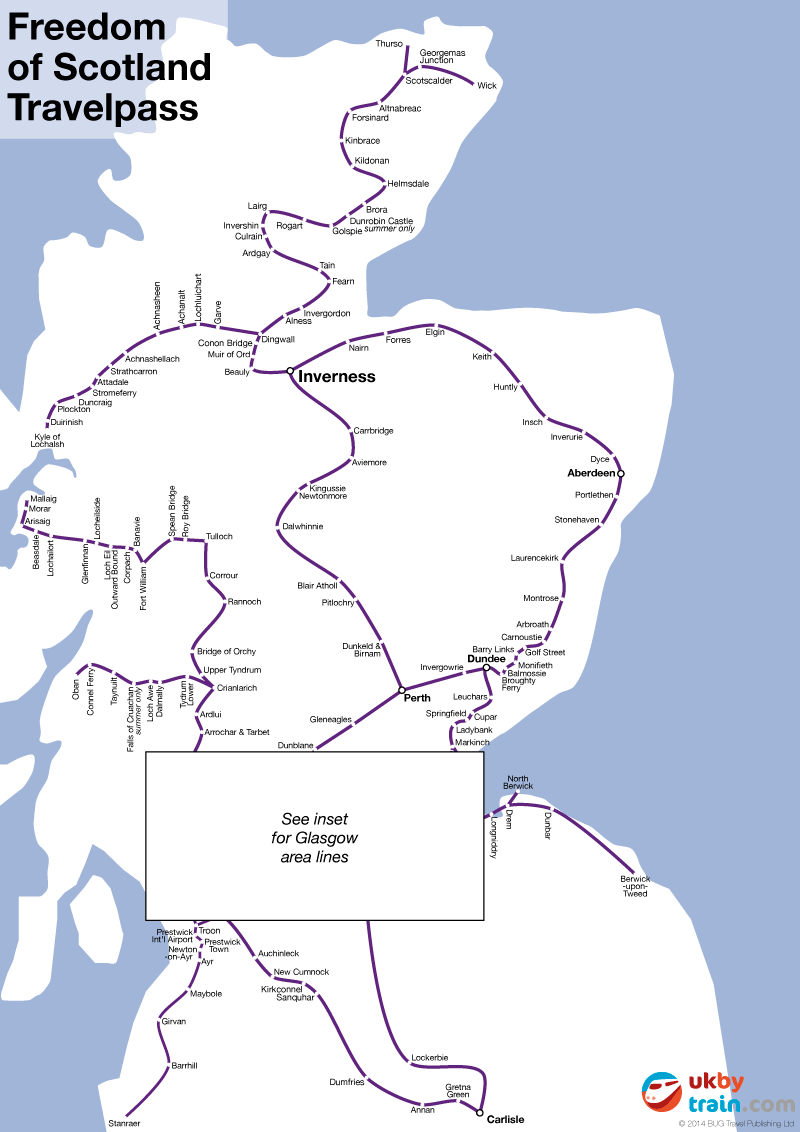 Spirit of Scotland Travelpass – Train Travel In Scotland Map