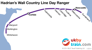 Hadrians Wall Country Line Day Ranger rail pass