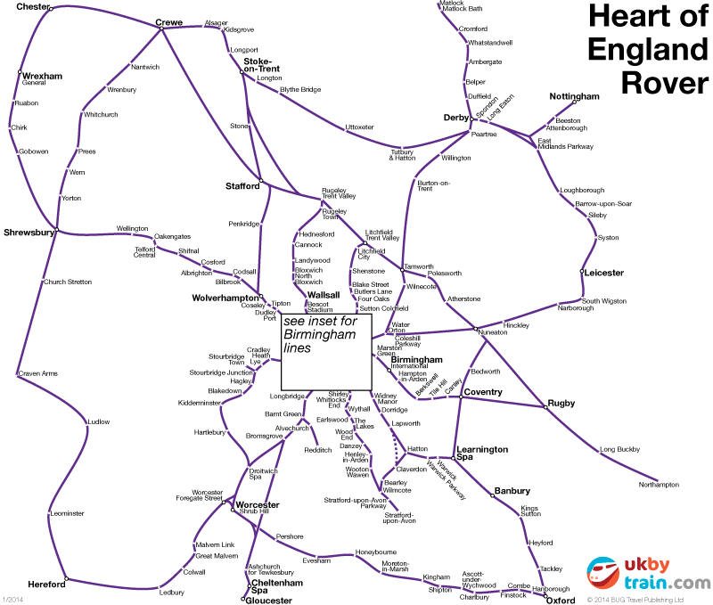 Heart of England Rover rail pass