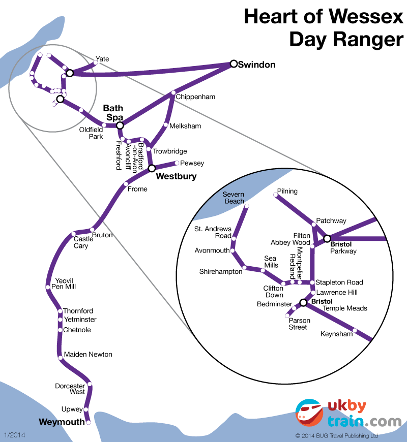 Heart of Wessex Day Ranger rail pass