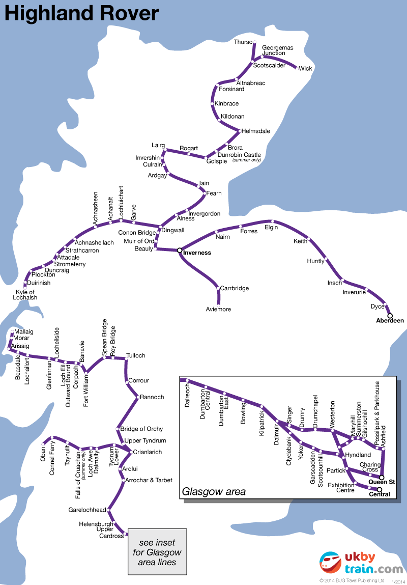 Highland Rover rail pass
