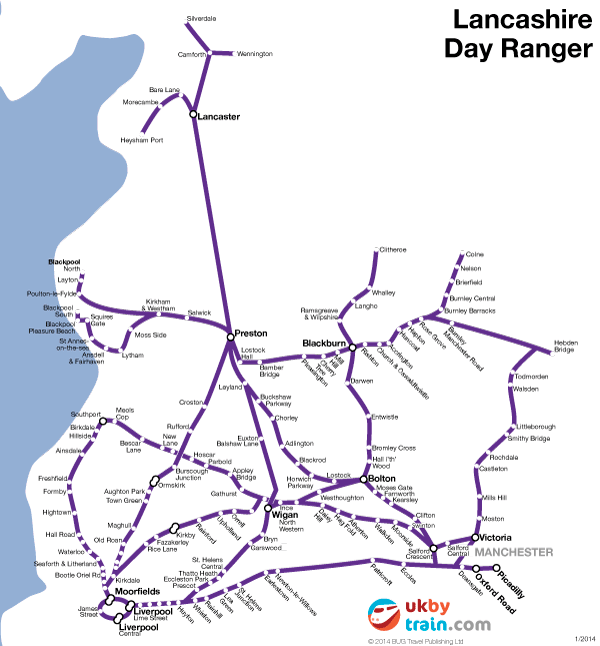 Lancashire Day Ranger rail pass
