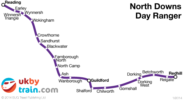 North Downs Day Ranger rail pass
