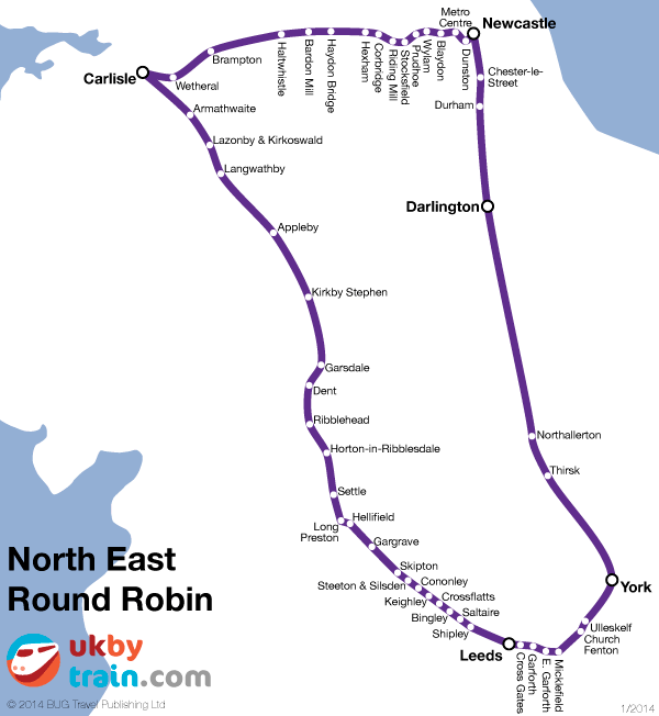 North East Round Robin rail pass