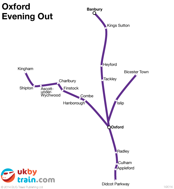 Oxford Evening Out rail pass