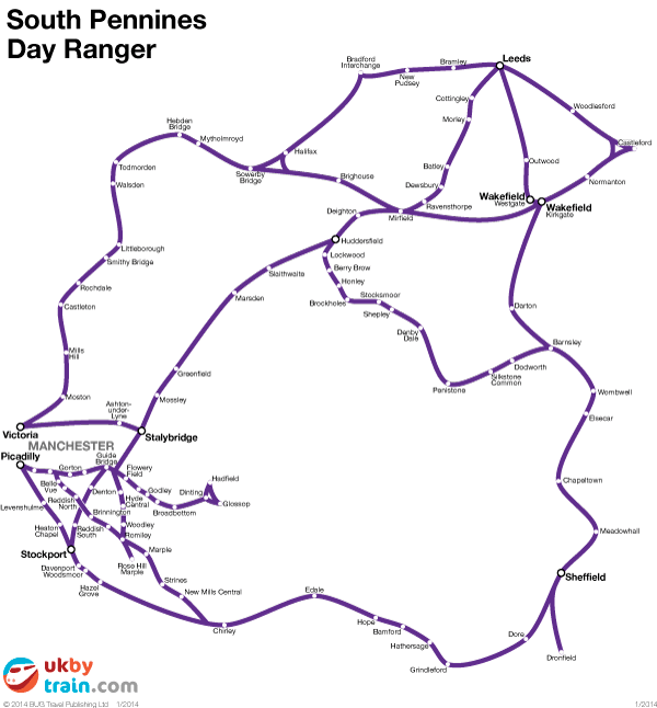 South Pennines Day Ranger rail pass