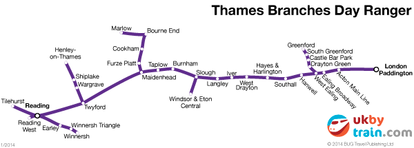 Thames Branches Day Ranger rail pass