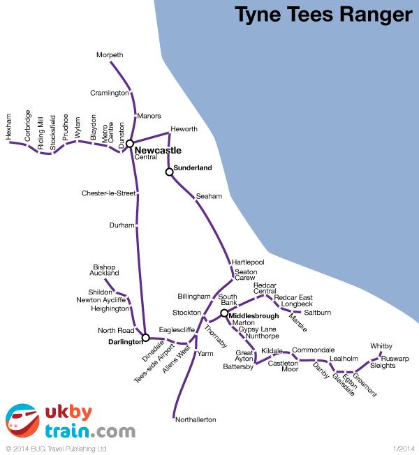 Tyne Tees Ranger rail pass
