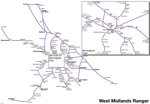 West Midlands Day Ranger rail pass
