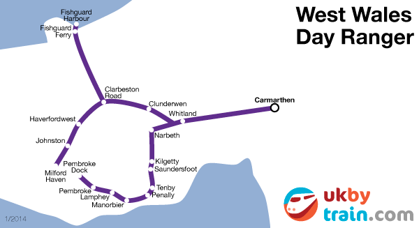 West Wales Day Ranger rail pass