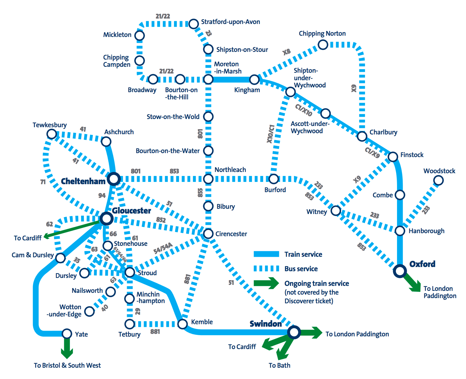 Cotswold Discoverer bus and rail pass