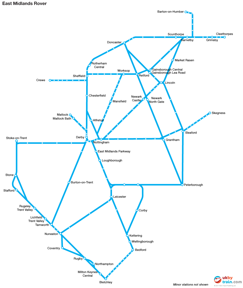 East Midlands Rover rail pass